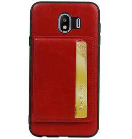 Standing Back Cover 1 Passes for Galaxy J4 Red