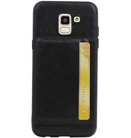 Portrait Back Cover 1 Cards for Galaxy J6 Black