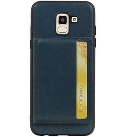 Portrait Back Cover 1 Cards for Galaxy J6 Navy