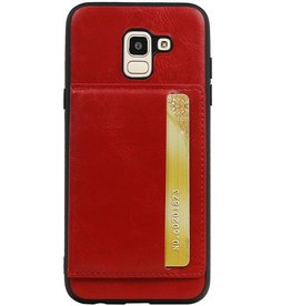 Portrait Back Cover 1 Cards for Galaxy J6 Red