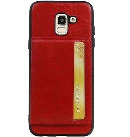 Portrait Rückseite 1 Karten für Galaxy J6 Red