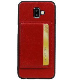 Portrait Back Cover 1 Cards for Galaxy J6 Plus Red