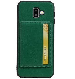Portrait Back Cover 1 Cards for Galaxy J6 Plus Green