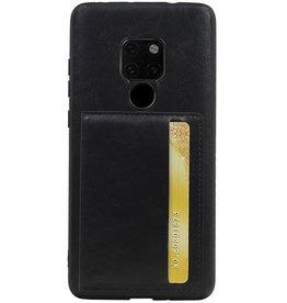Staand Back Cover 1 Pasjes voor Huawei Mate 20 Zwart