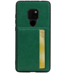 Staand Back Cover 1 Pasjes voor Huawei Mate 20 Groen