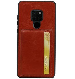 Staand Back Cover 1 Pasjes voor Huawei Mate 20 Bruin