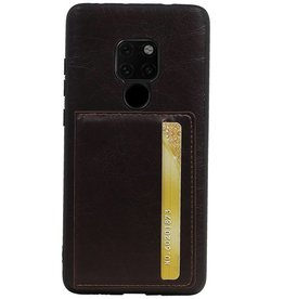 Standing Back Cover 1 Pass für Huawei Mate 20 Mocca