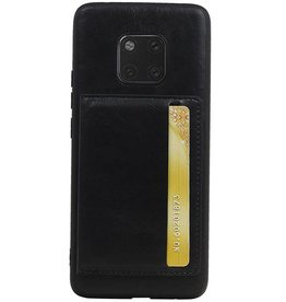 Staand Back Cover 1 Pasjes voor Huawei Mate 20 Pro Zwart