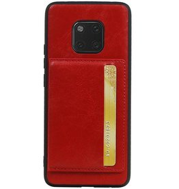 Staand Back Cover 1 Pasjes voor Huawei Mate 20 Pro Rood