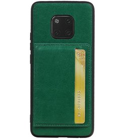 Staand Back Cover 1 Pasjes voor Huawei Mate 20 Pro Groen