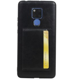 Staand Back Cover 1 Pasjes voor Huawei Mate 20 X Zwart