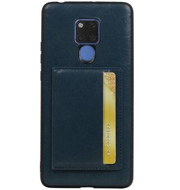 Staand Back Cover 1 Pasjes voor Huawei Mate 20 X Navy
