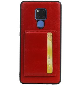 Staand Back Cover 1 Pasjes voor Huawei Mate 20 X Rood