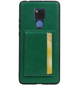 Staand Back Cover 1 Pasjes voor Huawei Mate 20 X Groen