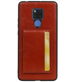 Standing Back Cover 1 Cards for Huawei Mate 20 X Brown
