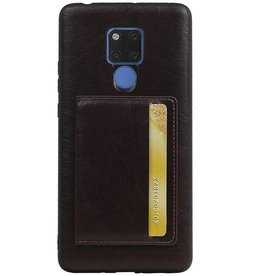 Staand Back Cover 1 Pasjes voor Huawei Mate 20 X Mocca
