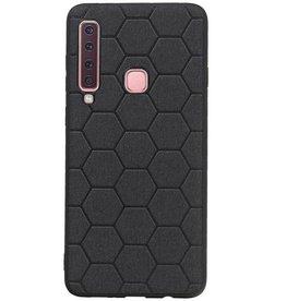 Hexagon Hard Case für Samsung Galaxy A9 2018 Schwarz
