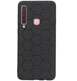 Hexagon Hard Case voor Samsung Galaxy A9 2018 Zwart