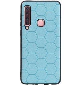 Hexagon Hard Case für Samsung Galaxy A9 2018 Blau