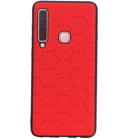 Hexagon Hard Case für Samsung Galaxy A9 2018 Rot