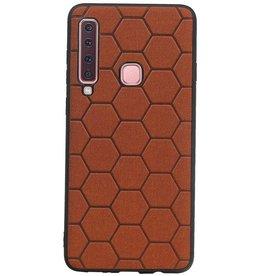 Hexagon Hard Case for Samsung Galaxy A9 2018 Brown