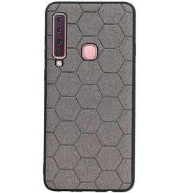 Hexagon Hard Case für Samsung Galaxy A9 2018 Grau