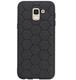Hexagon Hard Case for Samsung Galaxy J6 Black