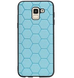 Hexagon Hard Case for Samsung Galaxy J6 Blue