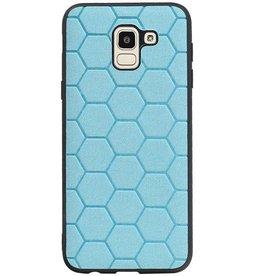 Hexagon Hard Case für Samsung Galaxy J6 Blue