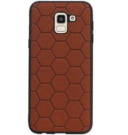 Hexagon Hard Case for Samsung Galaxy J6 Brown