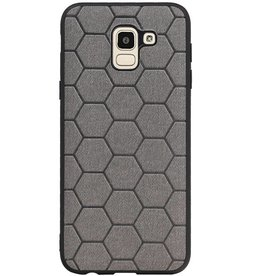 Hexagon Hard Case for Samsung Galaxy J6 Gray