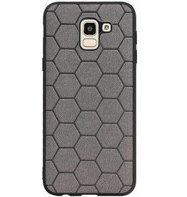 Hexagon Hard Case für Samsung Galaxy J6 Grau