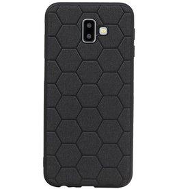 Hexagon Hard Case für Samsung Galaxy J6 Plus Schwarz