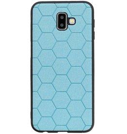 Hexagon Hard Case voor Samsung Galaxy J6 Plus Blauw