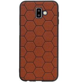 Hexagon Hard Case für Samsung Galaxy J6 Plus Braun