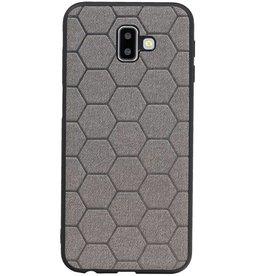 Hexagon Hard Case für Samsung Galaxy J6 Plus Grau