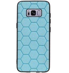 Hexagon Hard Case for Samsung Galaxy S8 Blue