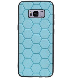 Hexagon Hard Case für Samsung Galaxy S8 Blue