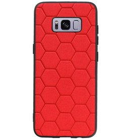 Hexagon Hard Case for Samsung Galaxy S8 Red