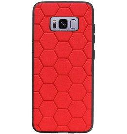 Hexagon Hard Case für Samsung Galaxy S8 Rot