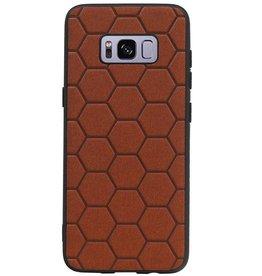 Hexagon Hard Case voor Samsung Galaxy S8 Bruin