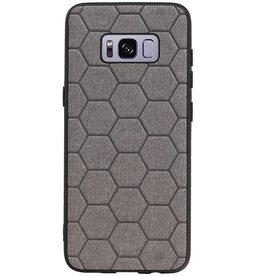 Hexagon Hard Case für Samsung Galaxy S8 Grau
