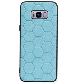 Hexagon Hard Case für Samsung Galaxy S8 Plus Blau