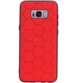 Hexagon Hard Case for Samsung Galaxy S8 Plus Red