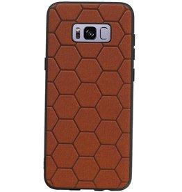 Hexagon Hard Case für Samsung Galaxy S8 Plus Braun