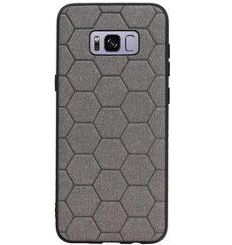 Hexagon Hard Case für Samsung Galaxy S8 Plus Grau