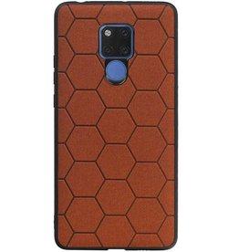 Hexagon Hard Case for Huawei Mate 20 X Brown