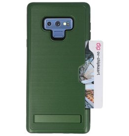 Tough Armor Card Stand Stand Case for Note 9 Dark Green