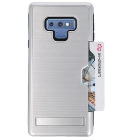 Tough Armor Card Stand Stand Case for Note 9 Silver
