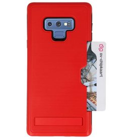 Tough Armor Card Stand Stand Case for Note 9 Red